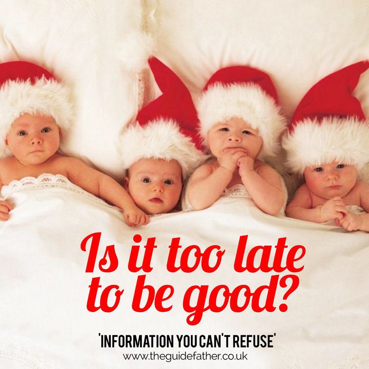 Is it too late to be good... Hope all your little ones have been behaving! If not, soon The Guidefather will give you tips to help you deal with tantrums! #TheGuidefather #Christmas #Xmas #HolidaysAreComing #SantaClaus #MincePie #Behaving #GoodKid #Babies #Fathering #Information