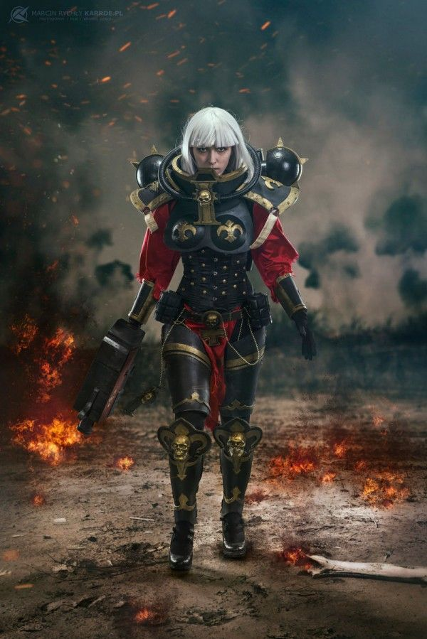 Cosplayer Lia Sivain is absolutely fierce as a Sister of Battle from Warhammer 40K. Photo by Marcin Rychly