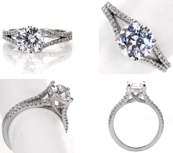 10 Unique engagement rings | Split Shank Engagement Ring | Knox Jewelers | Fab Mood