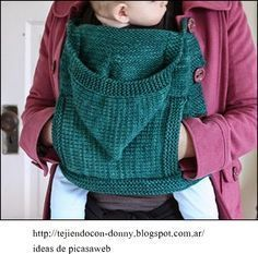 crochet fabric , CROCHET - GANCHILLO - PATRONES - GRAFICOS: MOCHILA PARA LLEVAR A UN BEBE