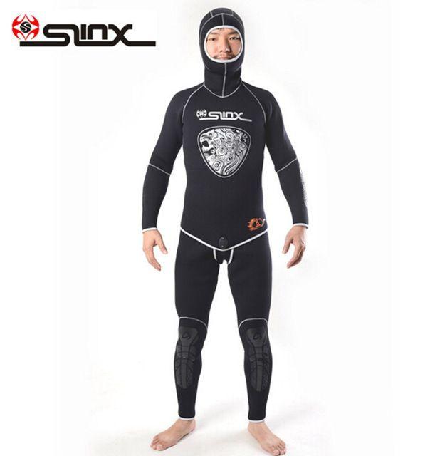 SLINX AQUITAUA 1301 5mm Neoprene Men Winter Warm Two-Piece Suit Wetsuit Scuba Diving Snorkeling Spearfishing Fishermen Swimwear