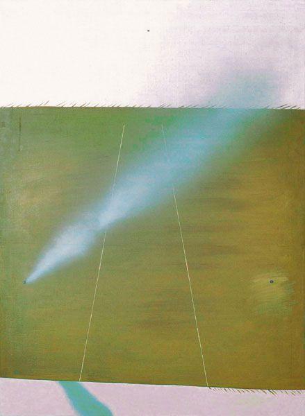 Autobahn XXXV - durch vier Elemente Objektbezeichnung: Gemälde Sachgruppe: A. Gemälde Hersteller: Fijalkowski, Stanislaw Maße: H: 100 cm, B: 73 cm Material: Leinwand Technik: Acryl