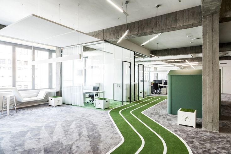 This office has some pretty unique office ideas.  They are a futball group but still runs in line with the SOMN sports stuff.