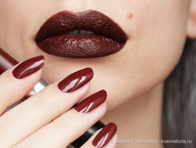 Chanel nail colour #639 Exception + MAC matte lipstick Antique Velvet — My Beautiful Melanholy — Косметиста