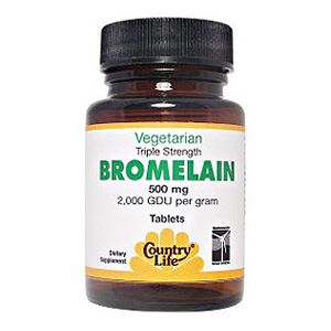 Country Life Vitamins Bromelaine, Natural,500 MG      Supports Healthy Inflammation Levels     Triple Strength     AVA Certified Vegan     Gluten Free $12.49