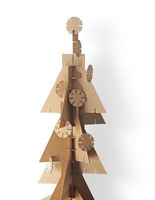 krearton cardboard christmas tree