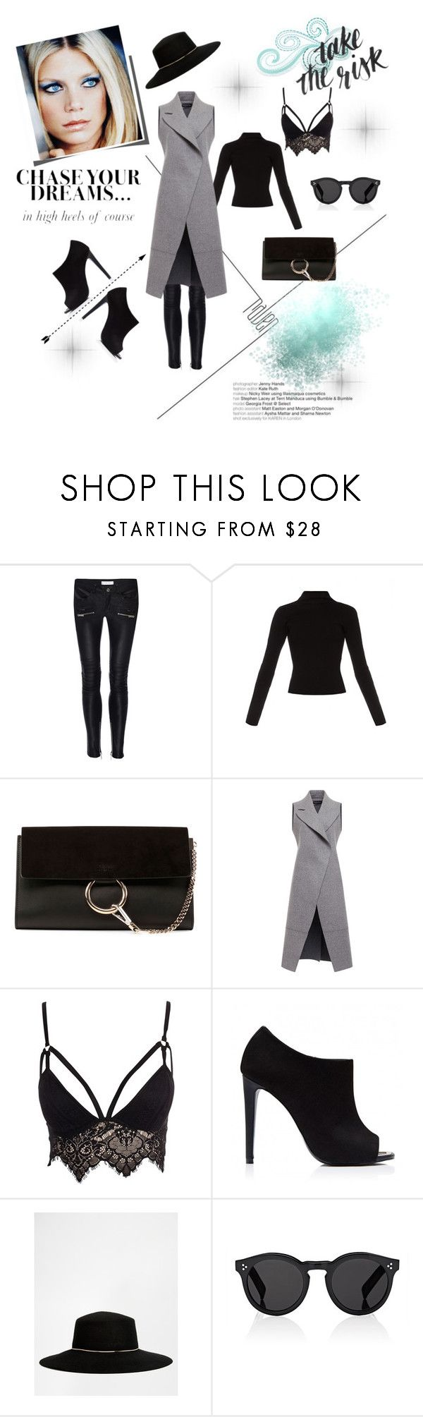 """Peta Wilson style!"" by ieva-galvina ❤ liked on Polyvore featuring Haider Ackermann, Chloé, David Koma, Club L, Forever New, River Island, Illesteva and GetTheLook"