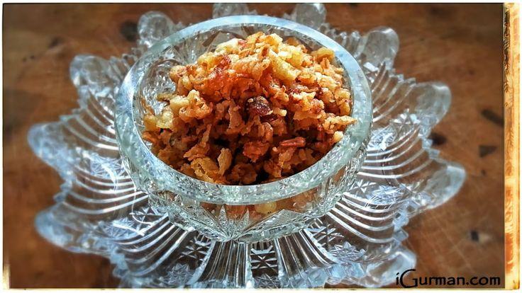 Smažená (restovaná) cibuľka. Toto mám veľmi rád. Restovaná cibuľka je vynikajúci doplnok ku rôznym druhom jedál. Veľmi dobre sa hodí ku ryžovým pokrmom.