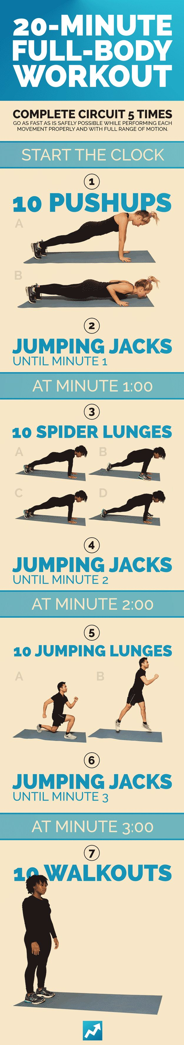Total-Body Workout: 20 minutes, like if this looks easy, cuz I bet it is t as easy as it looks. Fit fo free
