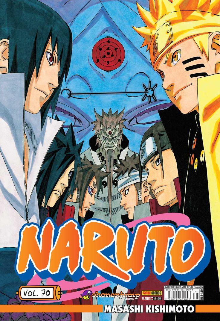 Naruto #70 – de Masashi Kishimoto Série bimestral. Concluída no Japão com 72 volumes. Formato 13,7x20 cm, 208 páginas, R$11,50.  A fim de deter Madara, Gai libera a técnica dos Oito Portais Internos, que lhe fornece uma força física inimaginável, mas a um preço altíssimo… Enquanto isso, Naruto, inconsciente, encontra-se com o lendário eremita Rikudou Sennin, que revelará as verdadeiras origens do jovem shinobi e da guerra que está assolando o mundo!