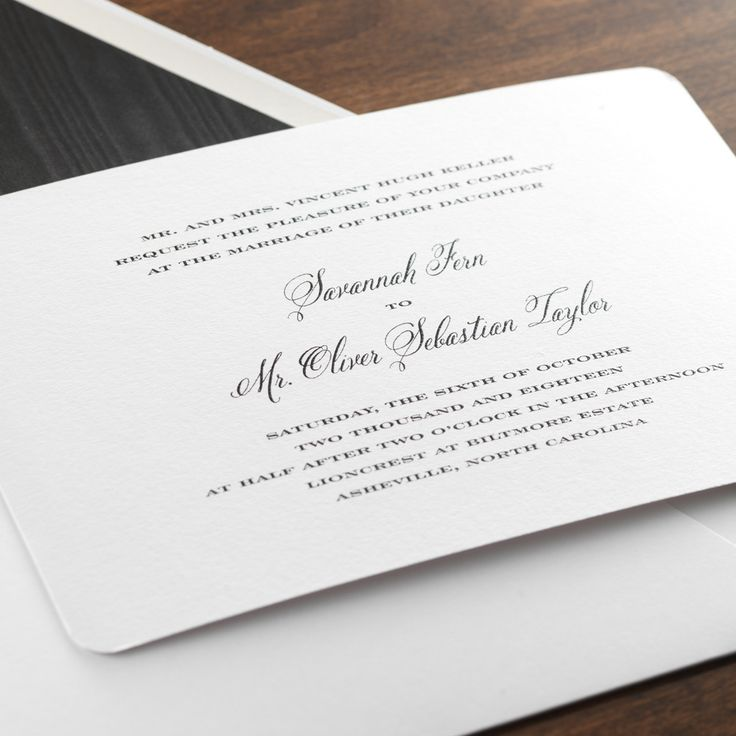 Grace By Checkerboard   Thermography Wedding Invitation In Black Ink |  Paper U0026 Pearl