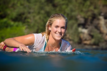 "Surfer Bethany Hamilton reveals her fitness and diet regimen, calling TRX suspension training ""rad, I love it!"" Man she just looks so happy Robb's surfing. I wish I could surf like she does"