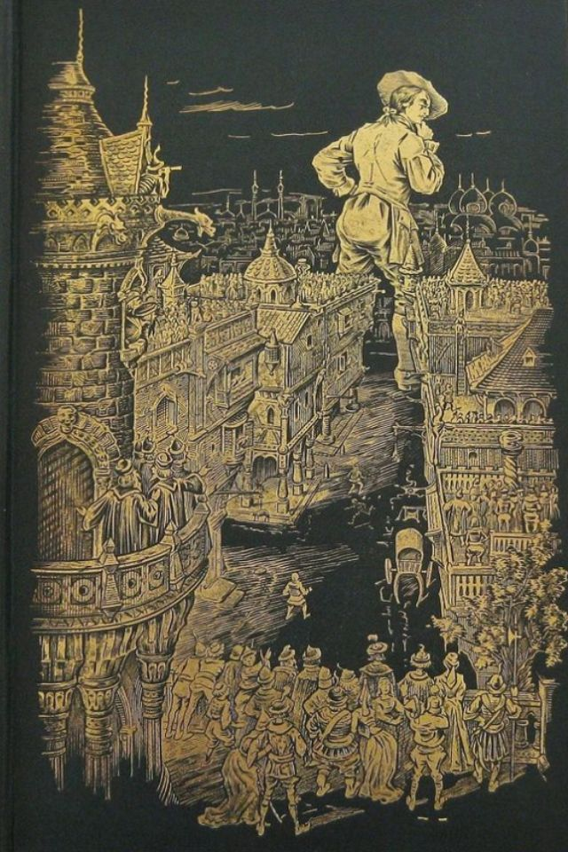 Antiquarian Book Series - Gulliver's Travels - 1894 by Jonathan Swift, Illustrated by Charles E. Brock