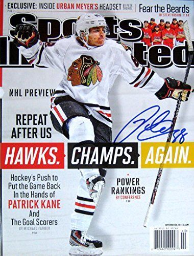 Patrick Kane BLACKHAWKS autographed Sports Illustrated magazine 9/30/13 -- You can find more details by visiting the image link.