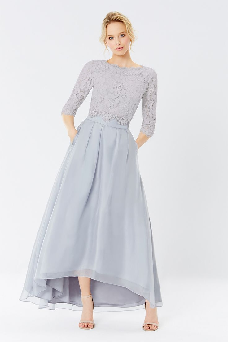 IRIDESSA HIGH LOW SKIRT + SARDINIA LACE TOP | Bridesmaid Separates from Coast | SouthBound Bride