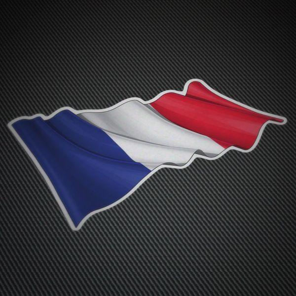 Pegatinas: Bandera de Francia ondeando #francia #bandera #TeleAdhesivo