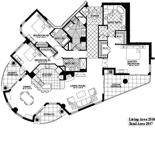 unique florida condo floor plans - Google Search