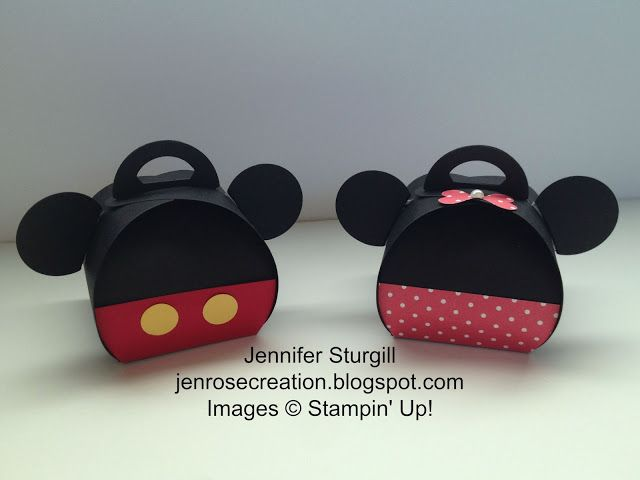 Jen Rose Creation: Mickey & Minnie Curvy Keepsake Boxes,  Stampin' Up!