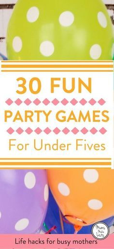 Party games for children ... 30 easy to run traditional birthday party games for kids. Organising a children's birthday party can be a LOT of work and hosting it can be even harder! So planning simple party games into the party is a great way to know the kids will be entertained and happy. #ChildrensPartyGames #KidsPartyGames #PartyGames #Christmas #ChristmasGames #Christmasparty #newyearsEve #newyear #partyideas