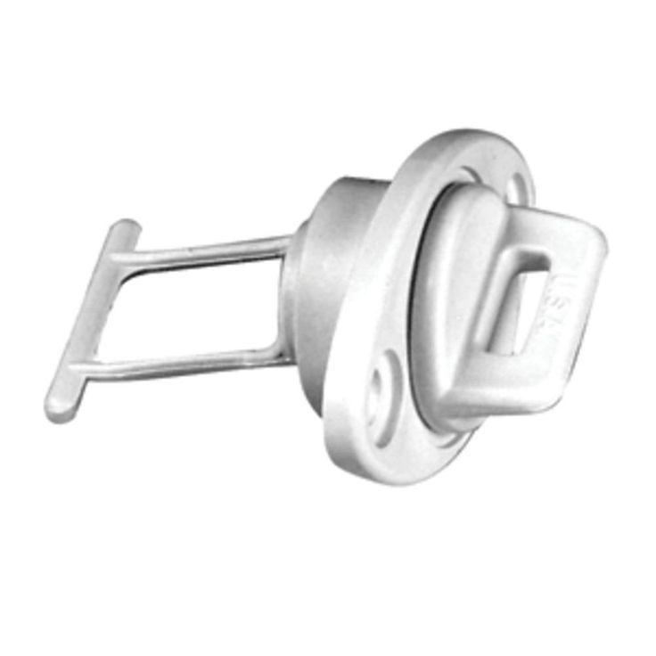 Beckson 1 Drain Plug Screw Type w-Gasket - White