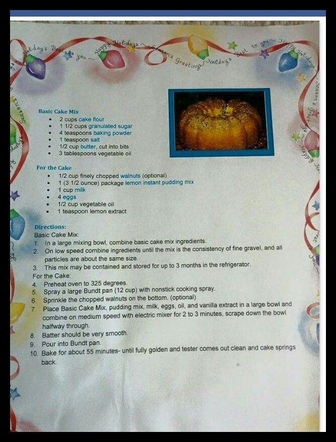 Fay's lemon pound cake