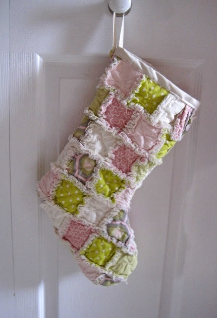 amy butler rag quilted stocking w/ different colors than these...