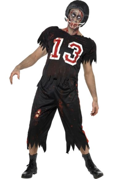 high school zombie footballer costume halloween