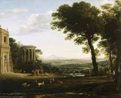 Claude Lorrain Paisaje y Sacrificio a Apolo 1662-1663 Óleo sobre lienzo 174x220cm
