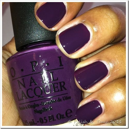 Purple Opi Nail Polish