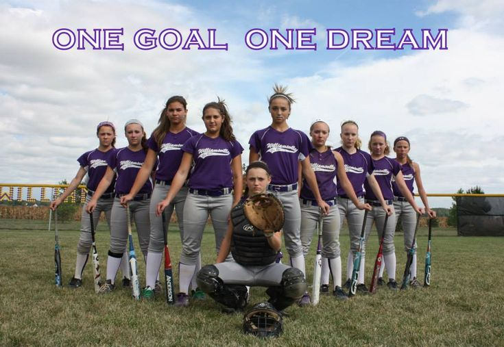 Softball team pose. (Incorporate the other three poses into this one)
