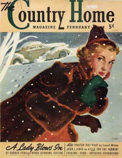 February 1938 cover of The Country Home magazine, art by Al Parker.