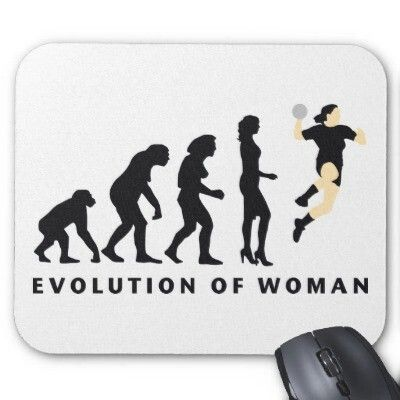 Evolution of woman ♥ and the next silhouette would be on a motorcycle, right?