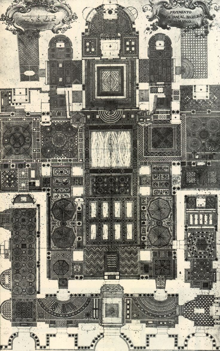Floor of the cathedral of San Marco, Venice,Italiy