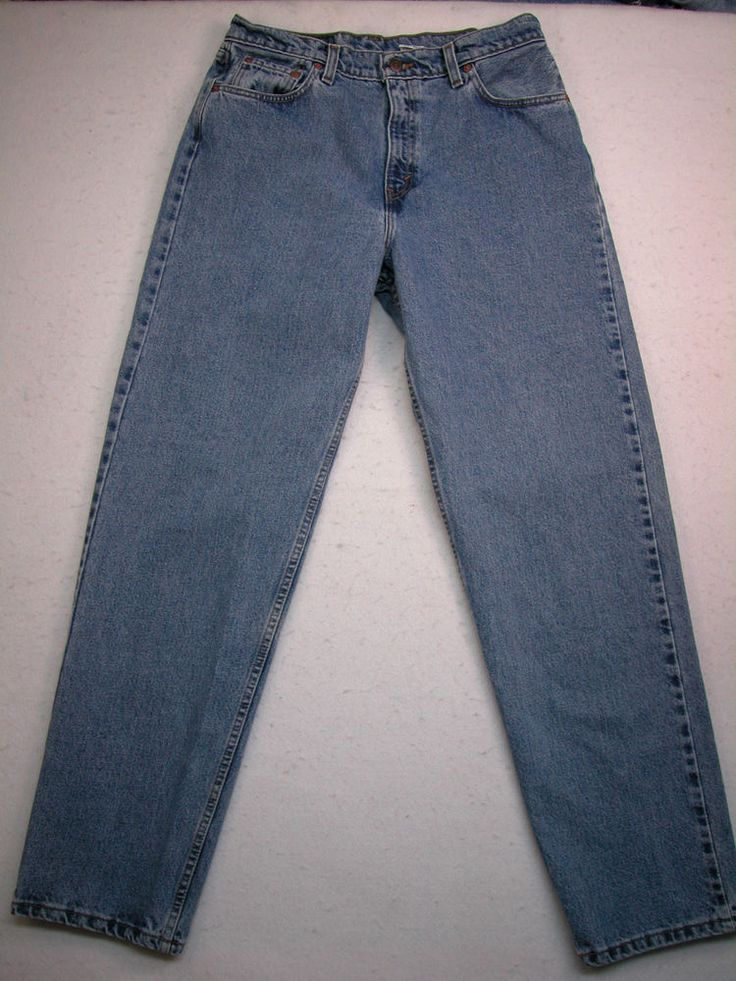 Levis 560 womens 13m loose fit straight leg jeans med