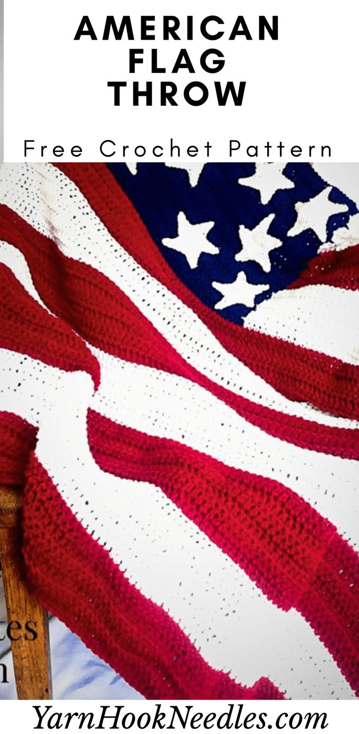 Make This Free American Flag Crochet Blanket
