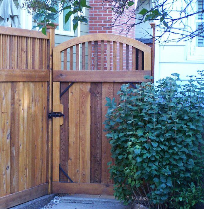 88 best craftsman fence images on pinterest wood fences for Craftsman style fence