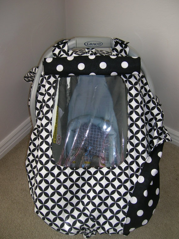 Car seat cover with a peek-a-boo window.  Genius!Cars Seats Covers, Car Seat Covers, Peek A Boos Windows, Covers Design, Infant Car Seats, Infants Cars Seats, Covers Tents, Children Area, Baby Stuff