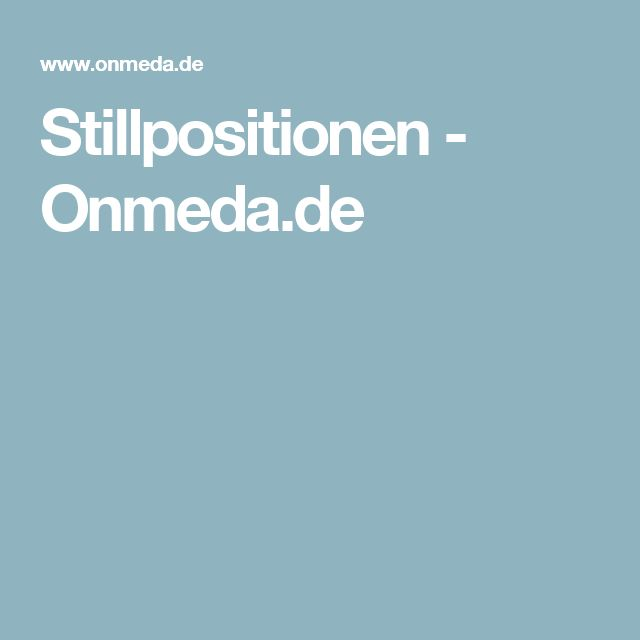 Stillpositionen - Onmeda.de