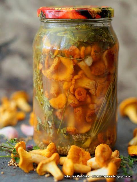 Smaczna Pyza - Sprawdzone przepisy kulinarne: Kurki kiszone z macierzanką, w solance