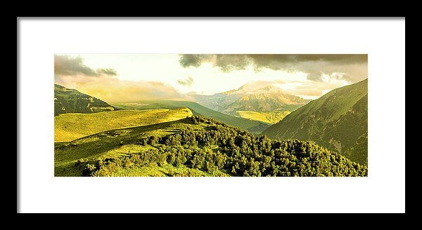 Mountains Framed Print featuring the photograph Burning Mountain. by Dmitry Bodyaev