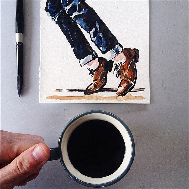 Coffee and Shoes #sunflowerman #coffeeyouneed VIA @sunflowerman