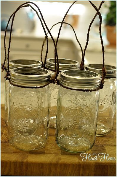 Holy GORGEOUS! I can't believe what she did with these mason jars! Amazing!