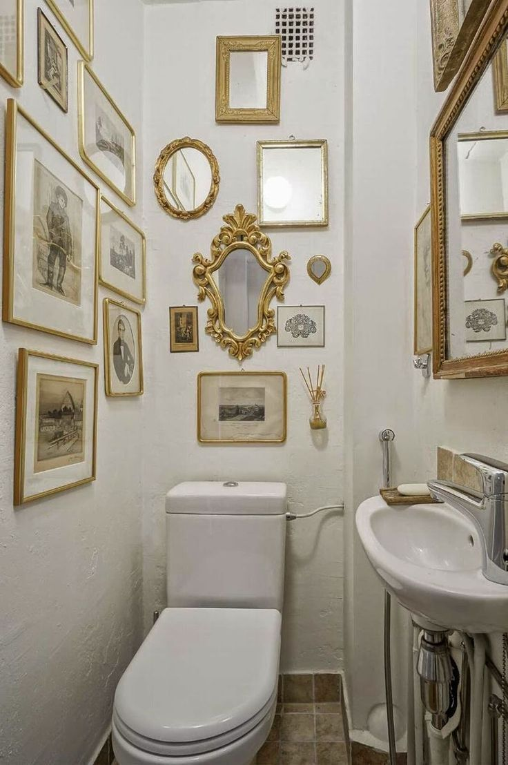 44 Crazy and Beautiful Tiny Powder Room with Color…