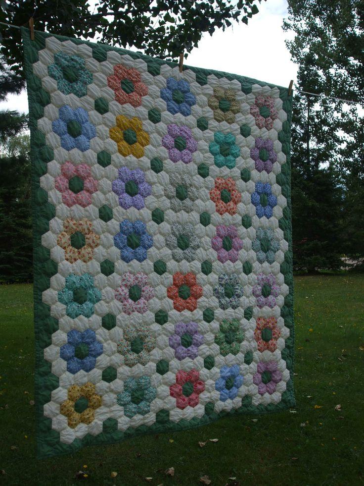 Hexagon lap quilt 2007