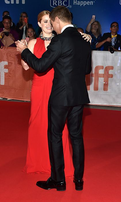 <h2>Celebs let loose</h2><br>TIFF has a reputation for being the Golden Globes of film festivals, meaning it's the place where stars are comfortable letting loose and relaxing. This would explain why Amy Adams and Jeremy Renner shirked walking the red carpet for a fun-filled dance. They came, they danced, they wowed the crowd and won applause. It was adorable.   <p>Photo: © Getty Images</p>