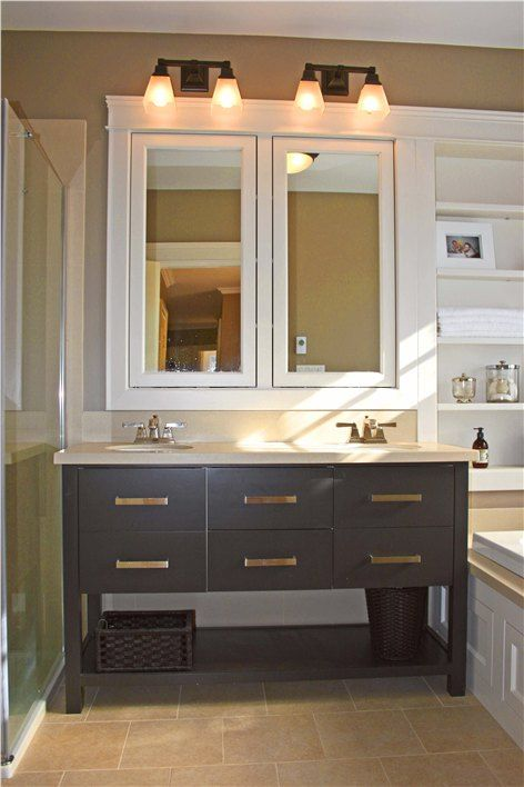 12 best images about baths on pinterest outdoor outdoor for Bathroom cabinets update ideas