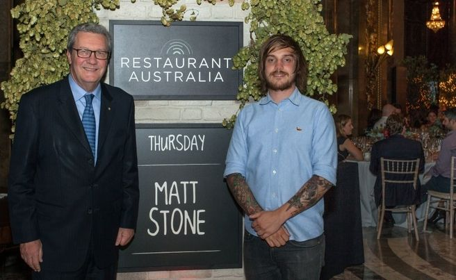 More than 160 diners - including High Commissioner Alexander Downer - enjoyed Margaret River wines, Little Creatures beer and a three-course meal from star Perth chef Matt Stone at WA's pop-up London restaurant yesterday.