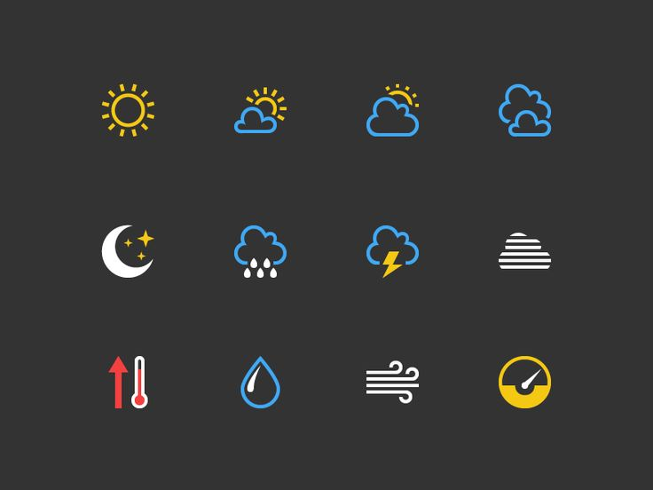 Weather Icons by Yuri Lebedenko