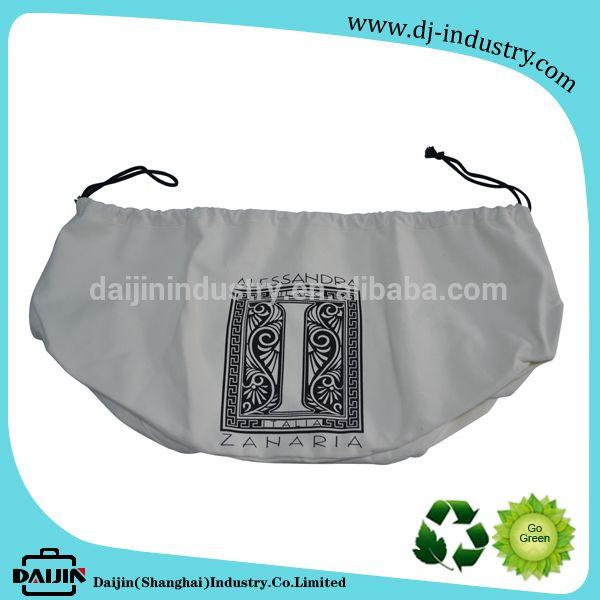 2017 Arab style large capacity organic canvas packing bag round bottom calico cotton drawstring bag