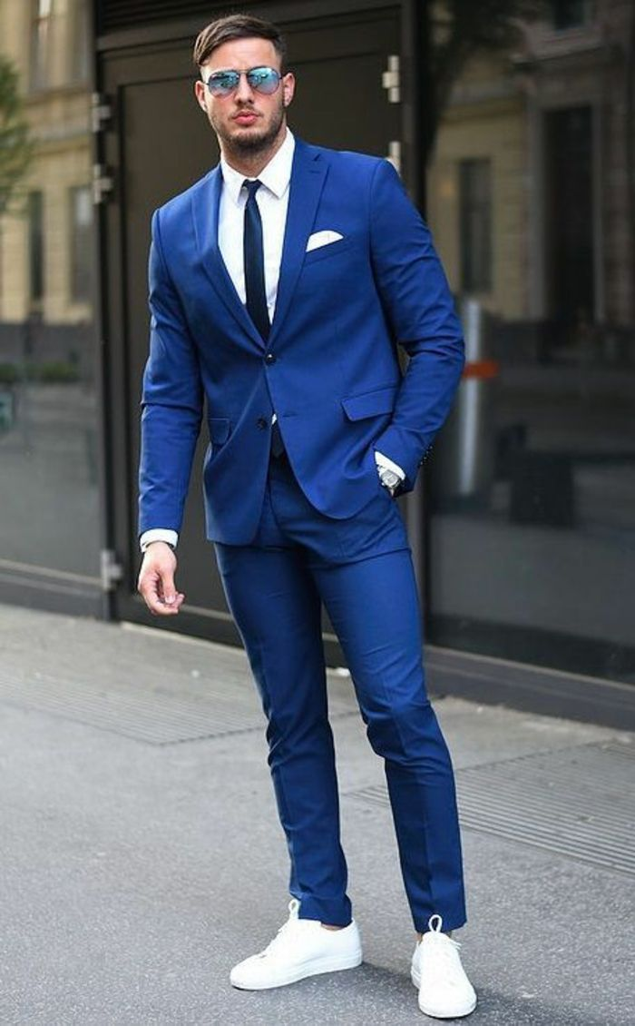 Costume homme blanc et bleu - fermeleycaut.fr 888a67d983f
